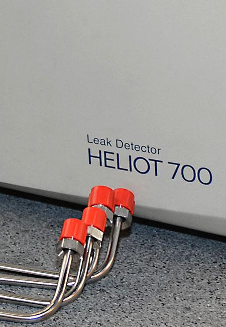 Axenics performs helium leak testing