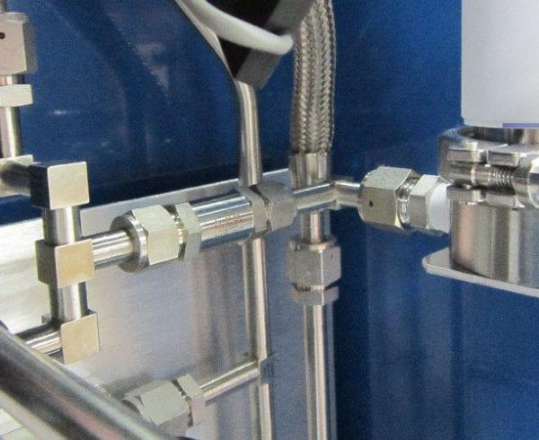 Gas box piping material