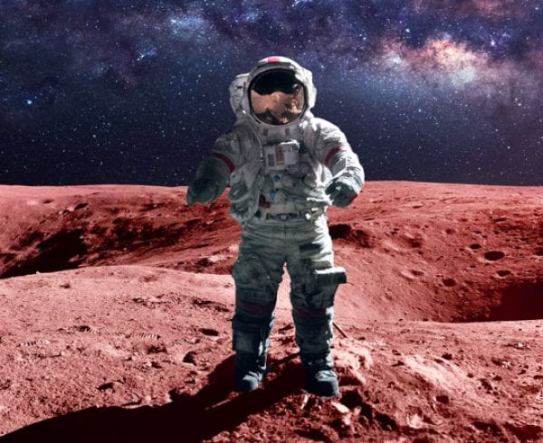 Fictitious astronaut on Mars