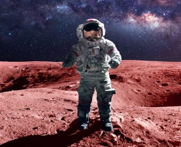 Fictitious astronaut on Mars