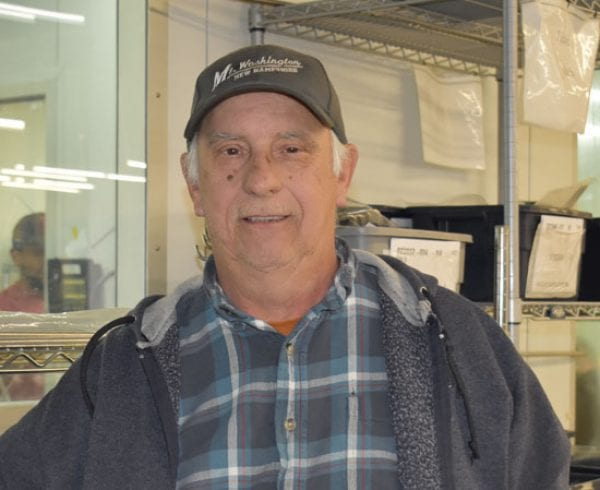 Dick Carpentier, who oversees high-purity and orbital welding in the cleanroom at Axenics