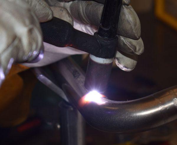 TIG welding at Axenics