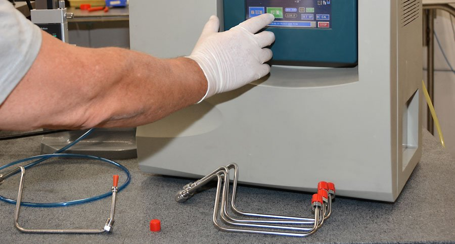 Creep testing of plastics for safe delivery systems