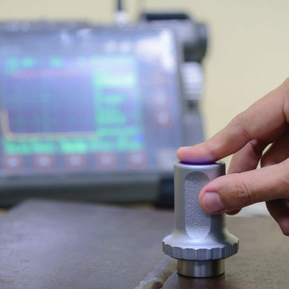 Ultrasonic weld testing