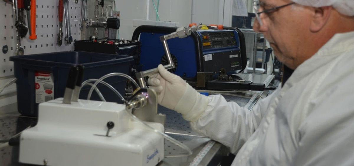 Orbital Welding with Swagelok orbital welder